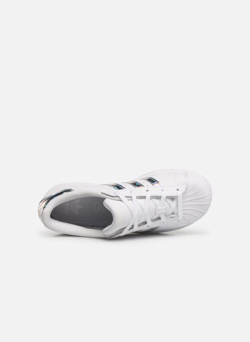 Baskets adidas originals Superstar C Blanc vue gauche