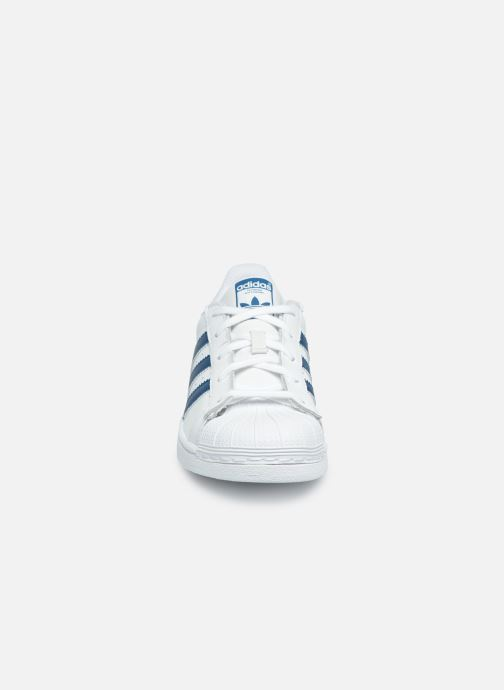 Sneaker adidas originals Superstar C weiß schuhe getragen