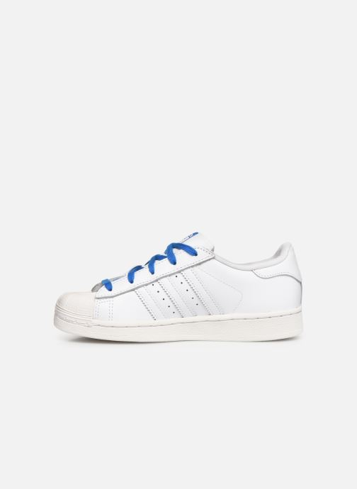 Baskets adidas originals Superstar C Blanc vue face
