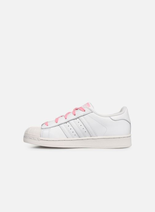 Baskets adidas originals Superstar C Blanc vue face