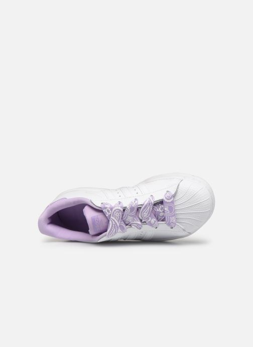 Sneakers adidas originals Superstar C Bianco immagine sinistra