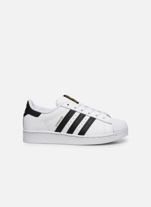 Baskets adidas originals Superstar C Blanc vue derrière