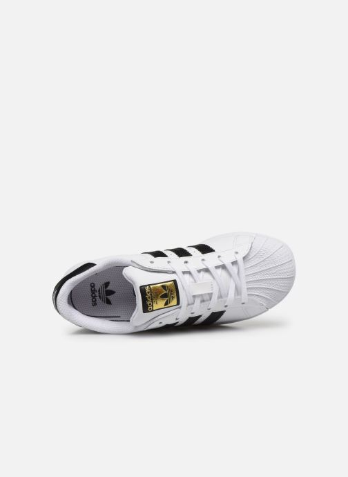 Deportivas adidas originals Superstar C Blanco vista lateral izquierda