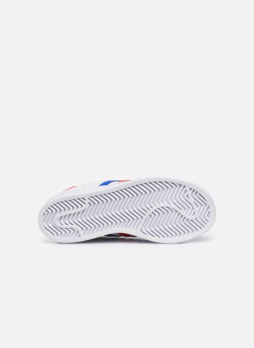 Baskets adidas originals Superstar C Blanc vue haut