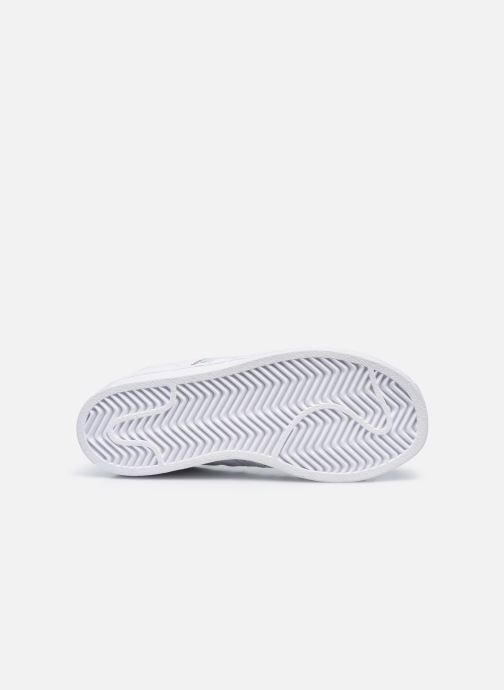 Baskets adidas originals Superstar C Blanc vue haut