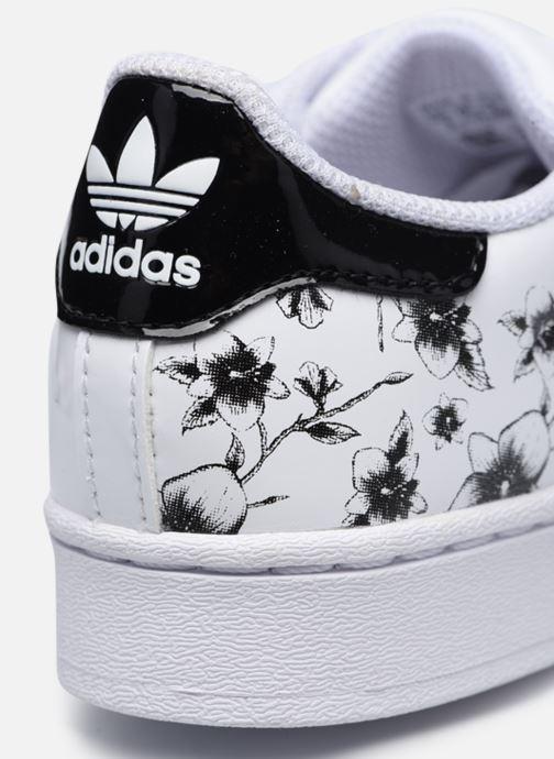 Baskets adidas originals Superstar C Blanc vue 3/4