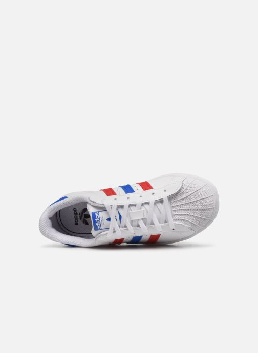 Baskets adidas originals Superstar C Blanc vue gauche