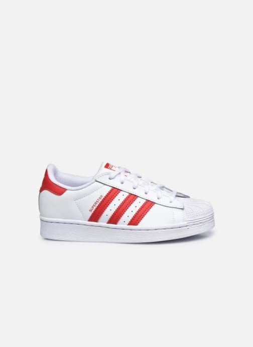 Baskets adidas originals Superstar C Blanc vue derrière