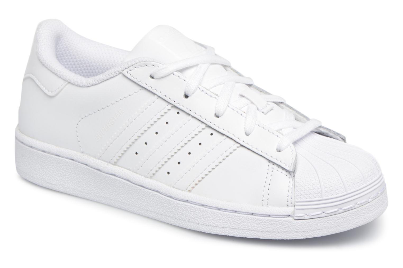 timeless design 90880 06406 Baskets Adidas Originals Superstar C Blanc vue détailpaire