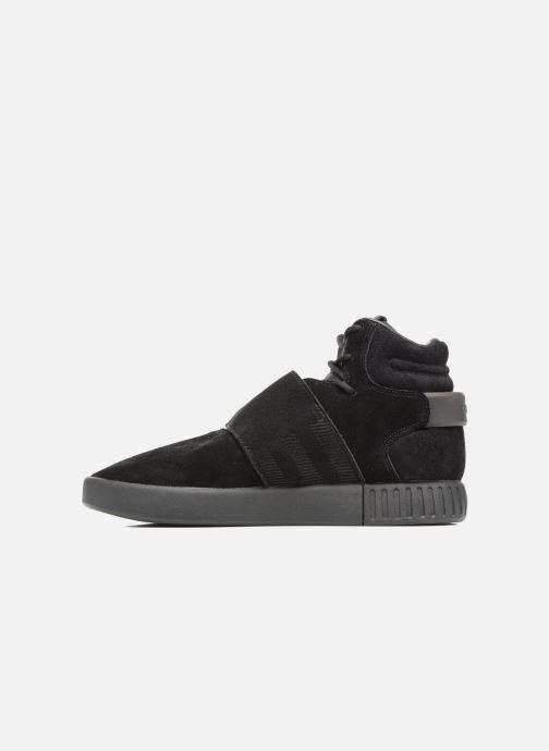 Sneakers adidas originals Tubular Invader Strap J Zwart voorkant