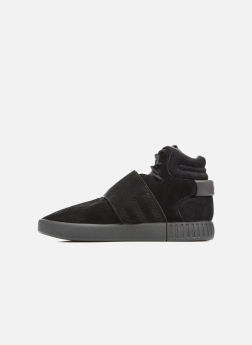 Trainers Adidas Originals Tubular Invader Strap J Black front view