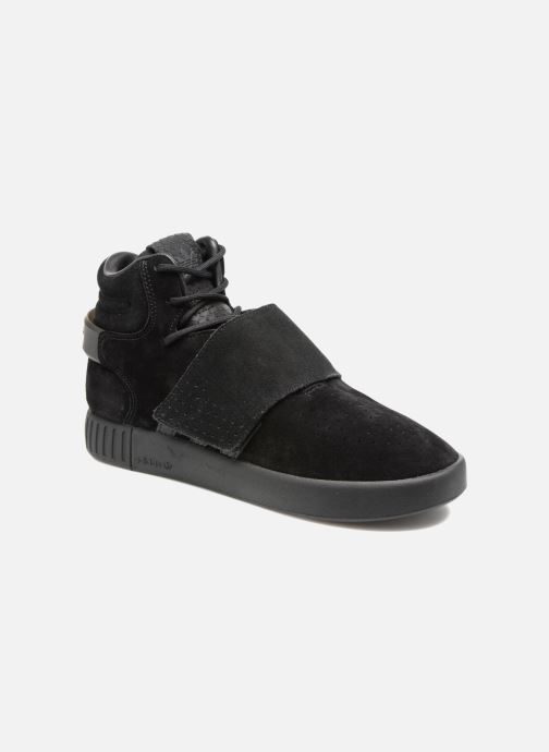 Trainers adidas originals Tubular Invader Strap J Black detailed view/ Pair view