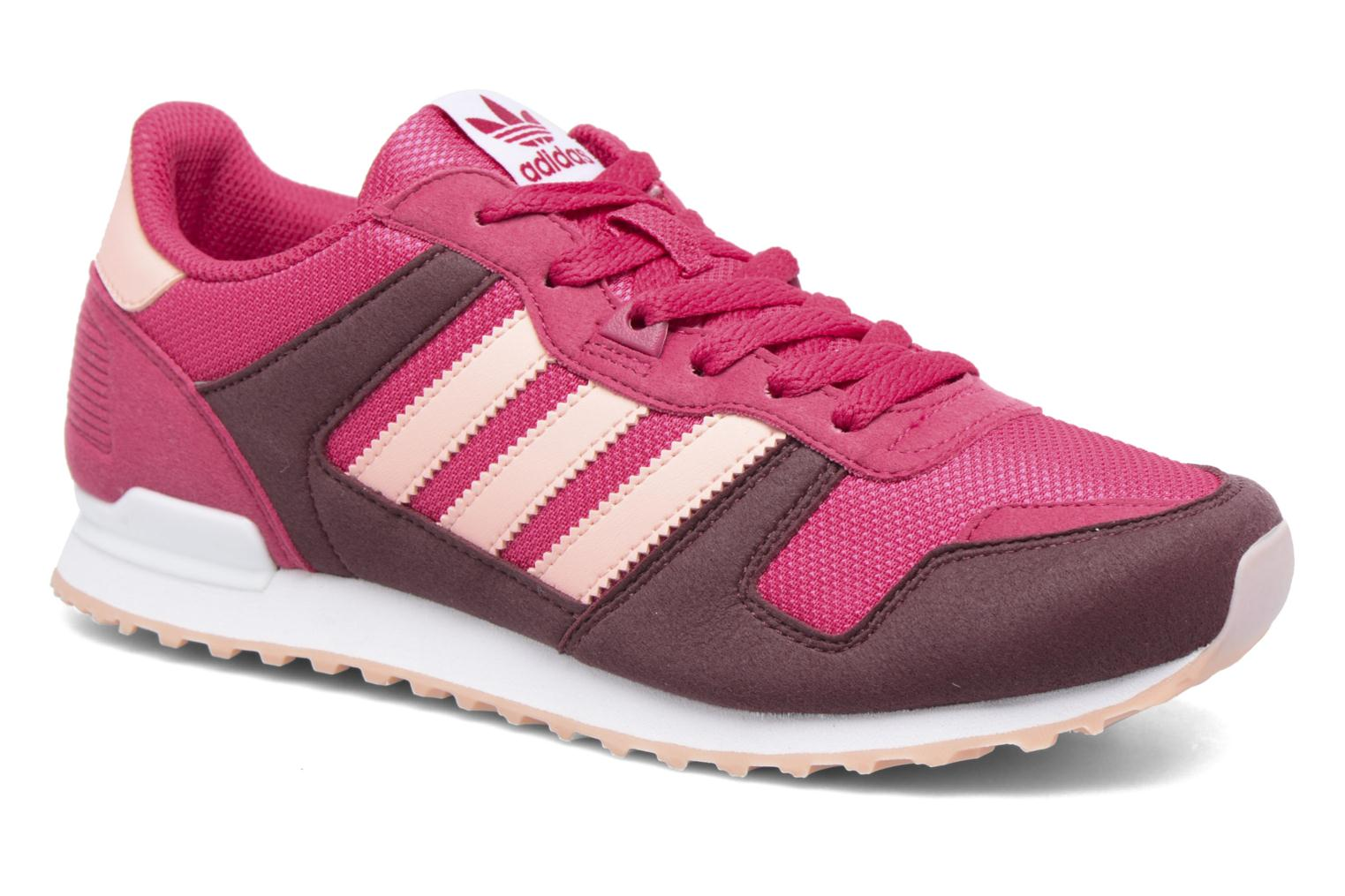 Baskets Adidas Originals Zx 700 J Rose vue détail/paire