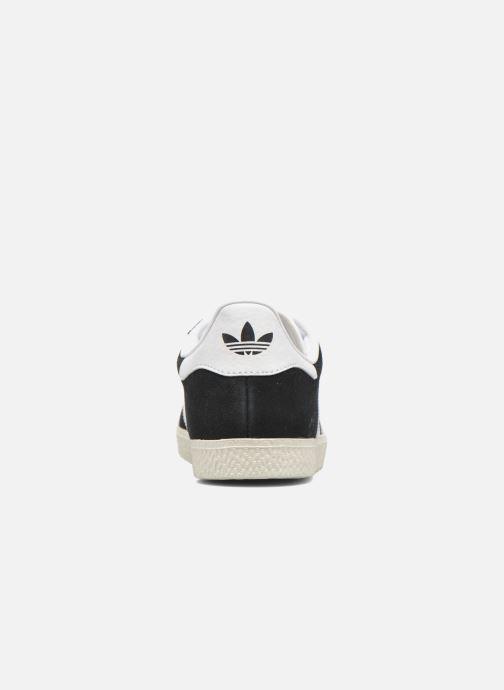 Baskets adidas originals Gazelle J Noir vue droite