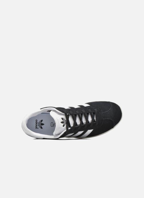 Baskets adidas originals Gazelle J Noir vue gauche