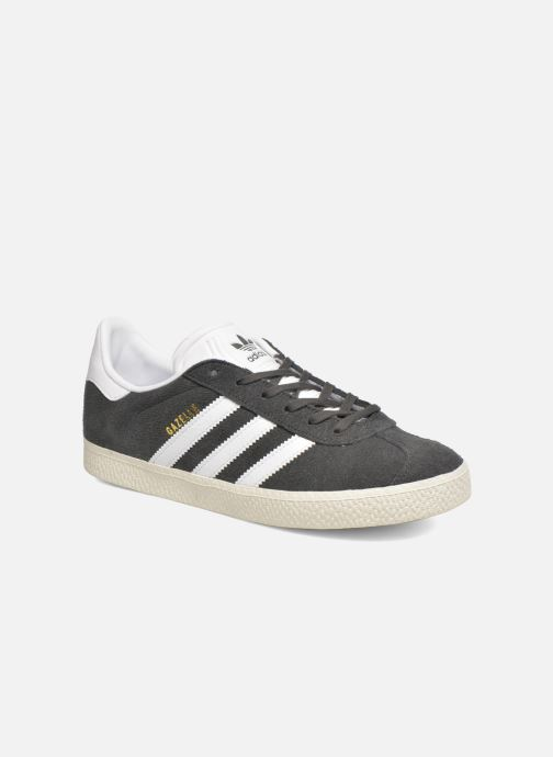 Trainers Adidas Originals Gazelle J Grey detailed view/ Pair view