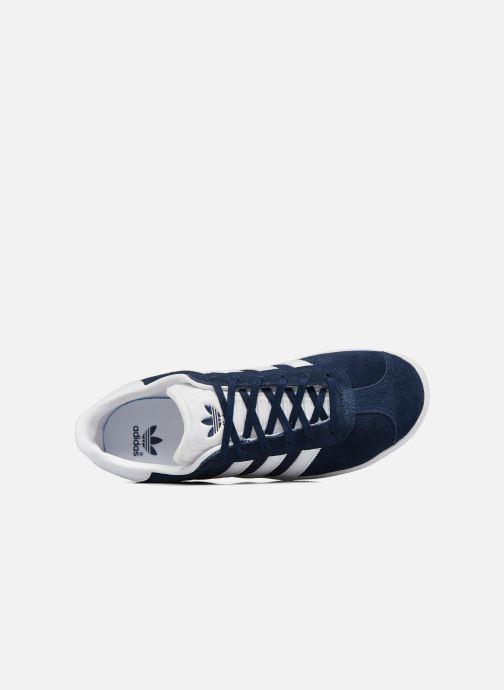Baskets adidas originals Gazelle J Bleu vue gauche