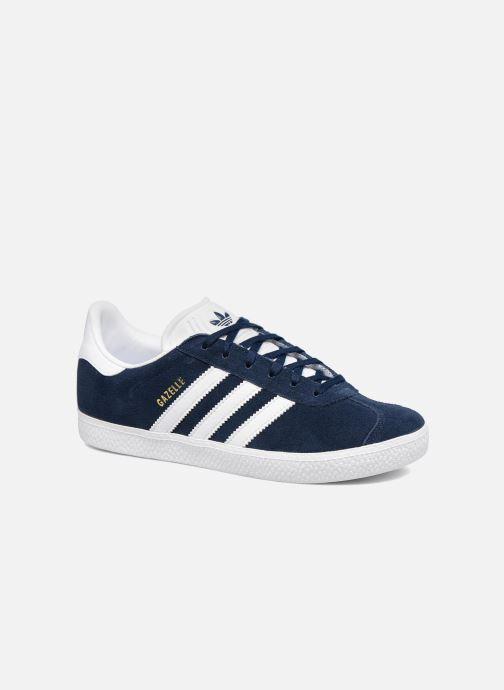 sports shoes 3d71d 8a636 Sneakers adidas originals Gazelle J Azzurro vedi dettaglio paio. Sneakers  adidas originals Gazelle J Azzurro modello indossato