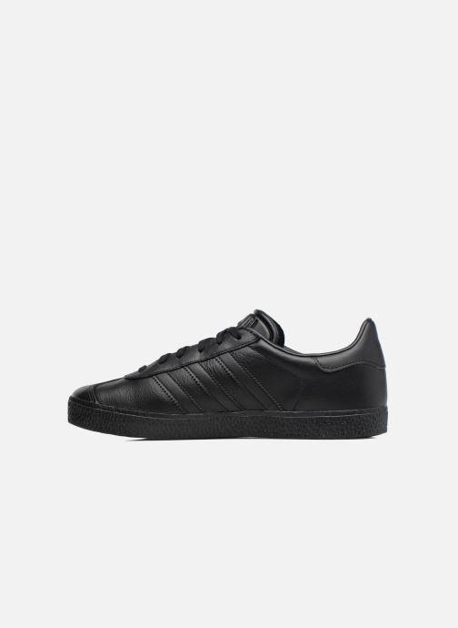 Baskets adidas originals Gazelle J Noir vue face