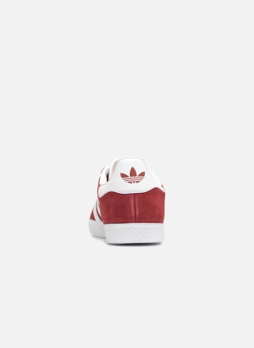 Baskets adidas originals Gazelle J Rouge vue droite
