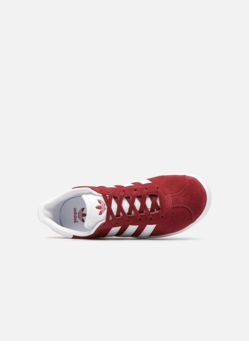 Deportivas adidas originals Gazelle J Rojo vista lateral izquierda