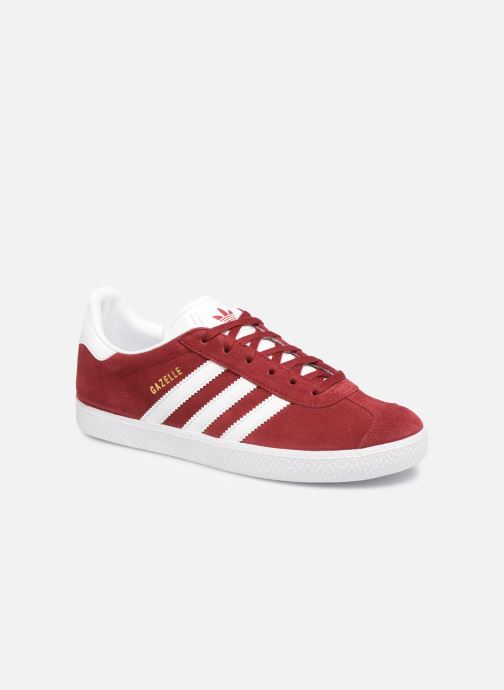 Baskets adidas originals Gazelle J Rouge vue détail/paire