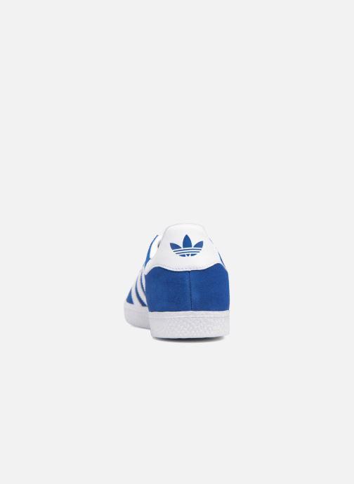 Deportivas adidas originals Gazelle J Azul vista lateral derecha