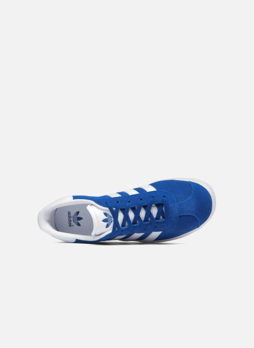 Sneaker adidas originals Gazelle J blau ansicht von links