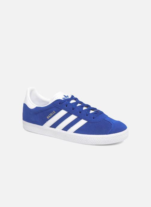 Baskets adidas originals Gazelle J Bleu vue détail/paire