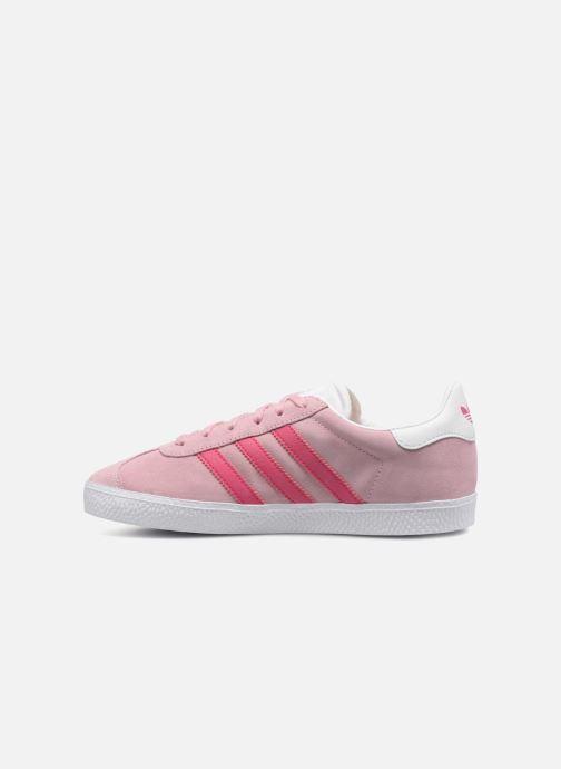 Baskets Adidas Originals Gazelle J Rose vue face