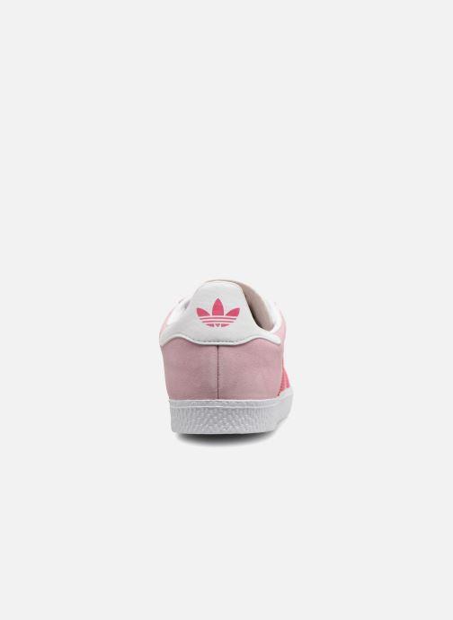 Baskets Adidas Originals Gazelle J Rose vue droite