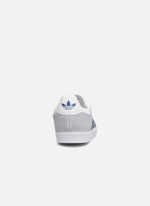 Baskets adidas originals Gazelle J Bleu vue droite