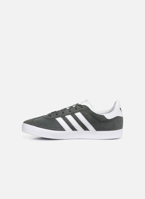 Sneaker adidas originals Gazelle J grau ansicht von vorne