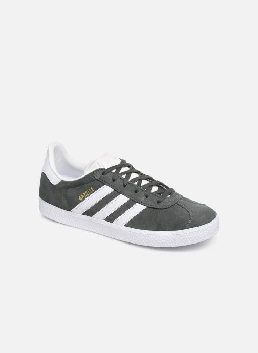 Sneakers Adidas Originals Gazelle J Grå detaljerad bild på paret