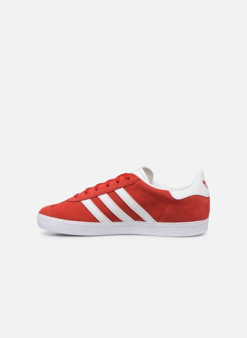 Baskets adidas originals Gazelle J Rouge vue face