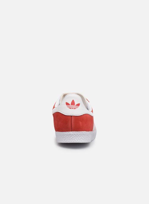 Baskets adidas originals Gazelle J Rouge vue droite