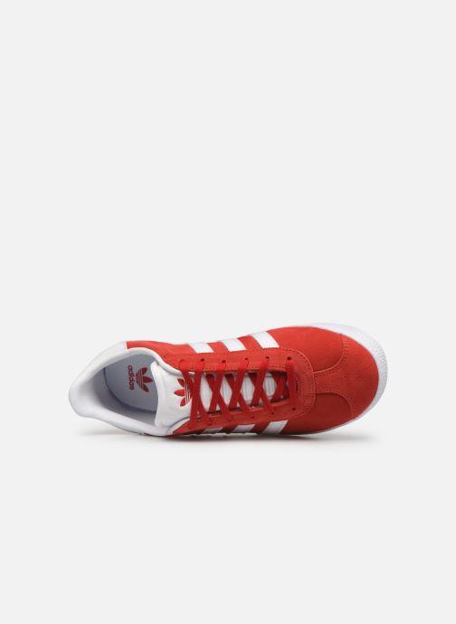 Sneaker adidas originals Gazelle J rot ansicht von links