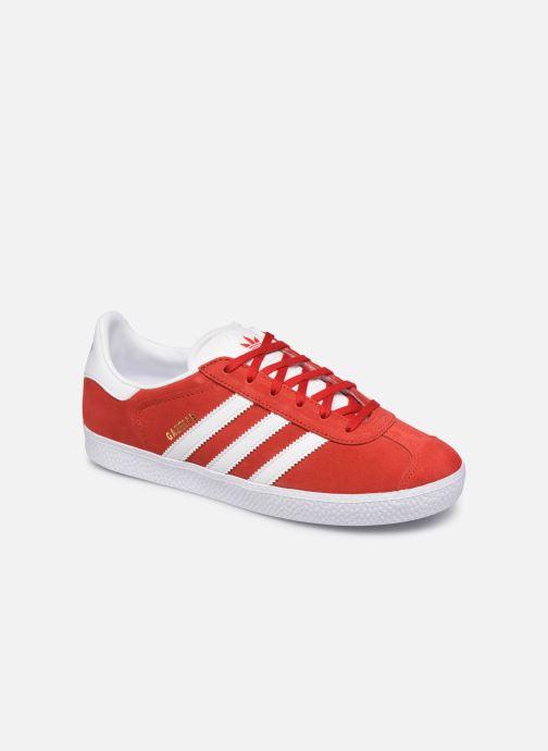 Deportivas adidas originals Gazelle J Rojo vista de detalle / par