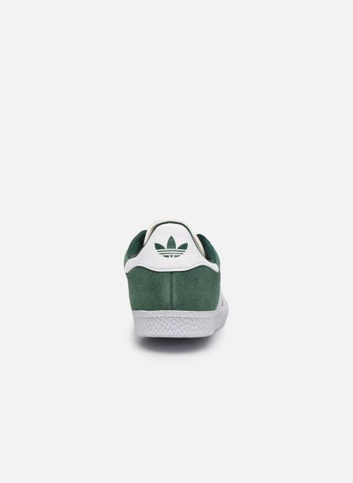 Deportivas adidas originals Gazelle J Verde vista lateral derecha
