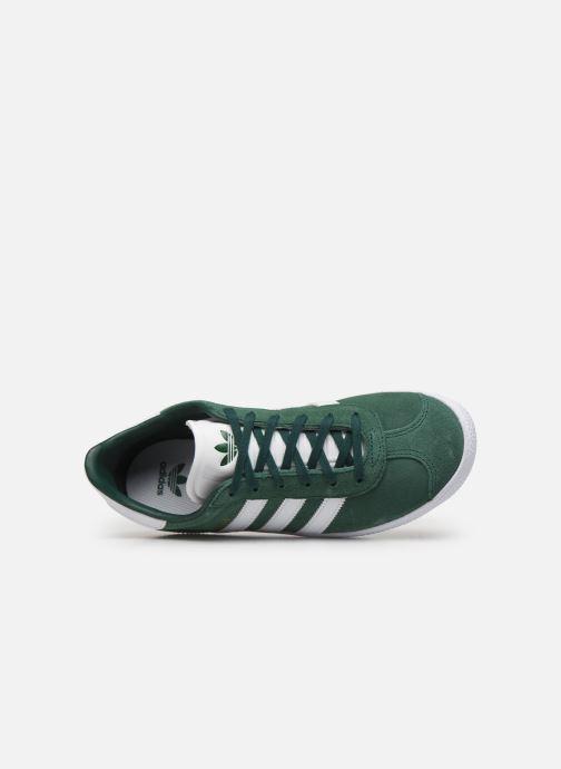 Baskets adidas originals Gazelle J Vert vue gauche