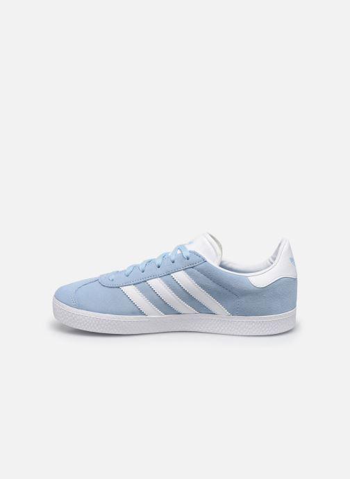 Deportivas adidas originals Gazelle J Azul vista de frente