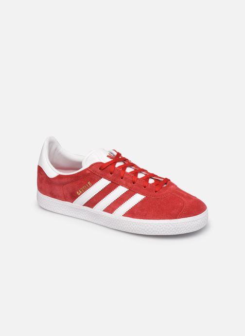 Baskets adidas originals Gazelle J Rouge vue détail/paire