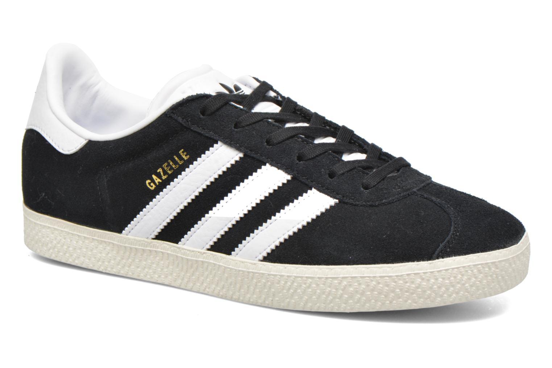 Baskets Adidas Originals Gazelle J Noir vue détail/paire