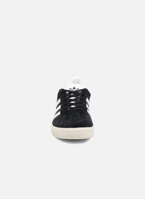 Sneaker adidas originals Gazelle C schwarz schuhe getragen
