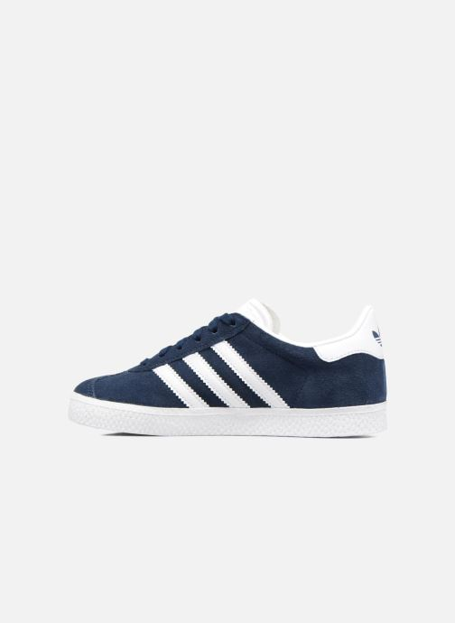 Baskets adidas originals Gazelle C Bleu vue face