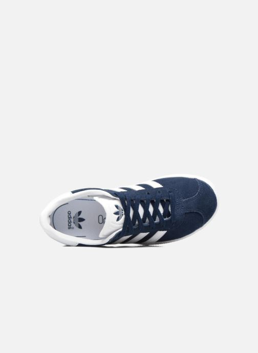 Baskets adidas originals Gazelle C Bleu vue gauche