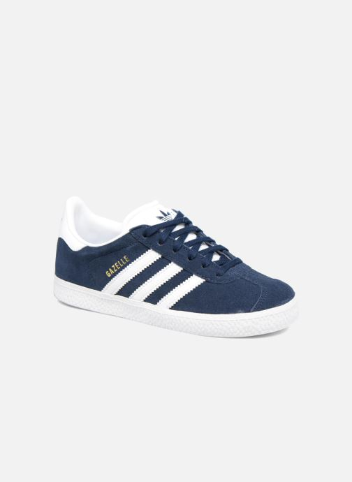 Baskets adidas originals Gazelle C Bleu vue détail/paire