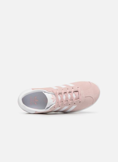 Baskets adidas originals Gazelle C Rose vue gauche
