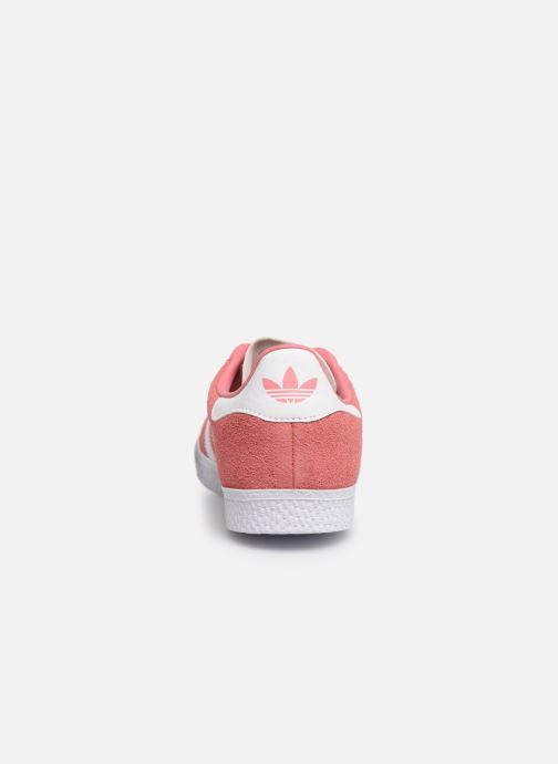 Baskets adidas originals Gazelle C Rose vue droite