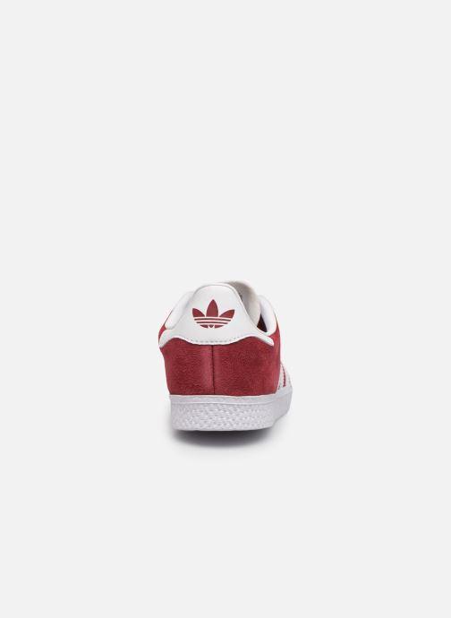 Sneaker adidas originals Gazelle C weinrot ansicht von rechts